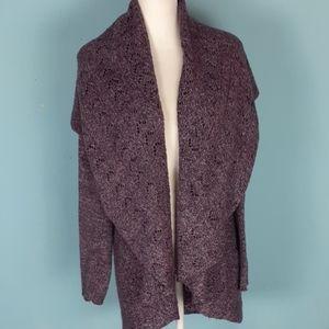 Karen Scott XL drape front cardigan sweater soft